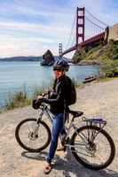 Ready to bicycle the Golden Gate Bridge