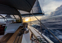 Sunset aboard the Aranui Yacht on the Pacific