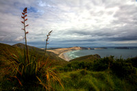 Looking west across the Paciric Ocean from Cape Reinga of the north island of New Zealand