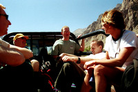 Riding the back of the truck to the trailhead of Aconcagua in Argentina