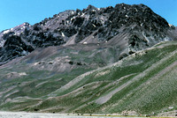 The scenic landscape of the valley leading to Aconcagua Argentina