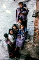 A group of young children in Kathmandu Nepal