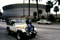 Parked in front of the Superdome in New Orleans Louisiana