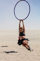 Woman on a hoop at Burning Man in Black Rock City Nevada