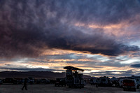 Gorgeous sunset at Burning Man in Black Rock City Nevada