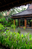 Torential rains in the villa in Bali Indonesia