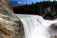 Wapta Falls on the Kicking Horse River in British Columbia Canada