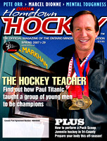 "One of the early covers I shot for ""Hometown Hockey""."